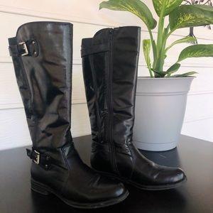 Bass Black Knee High Boots